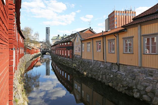 Västerås Svartån och stadshuset